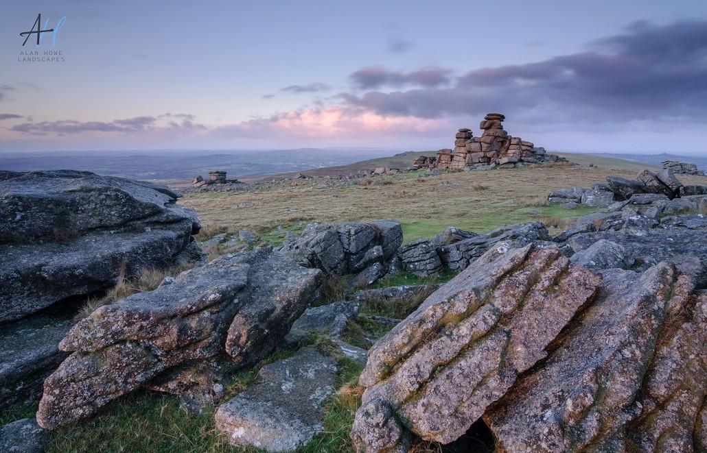 Dartmoor; Staple tor; rocks; clouds; National Park; Devon; photography