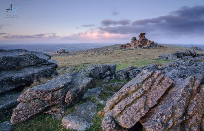 Dartmoor; Staple tor; rocks; clouds; National Park; Devon; photography