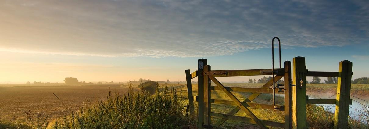 gate; light; river; sky;