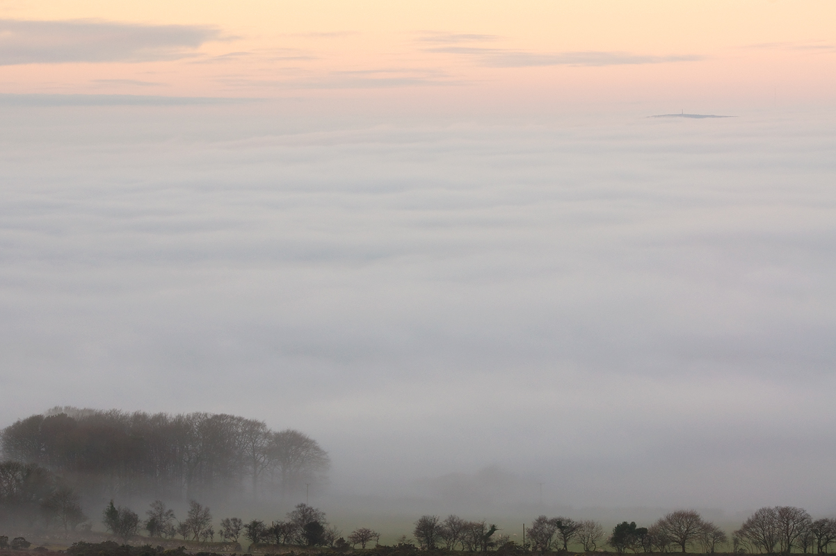 fog; cloud inversion; Dartmoor; National Park; Devon; photography