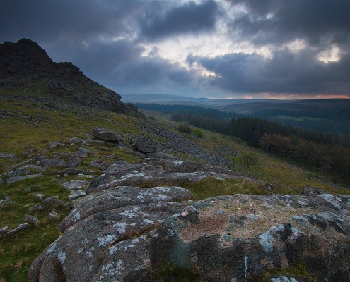 Dartmoor; stormy; cloud; rocks; National Park; Devon; photography
