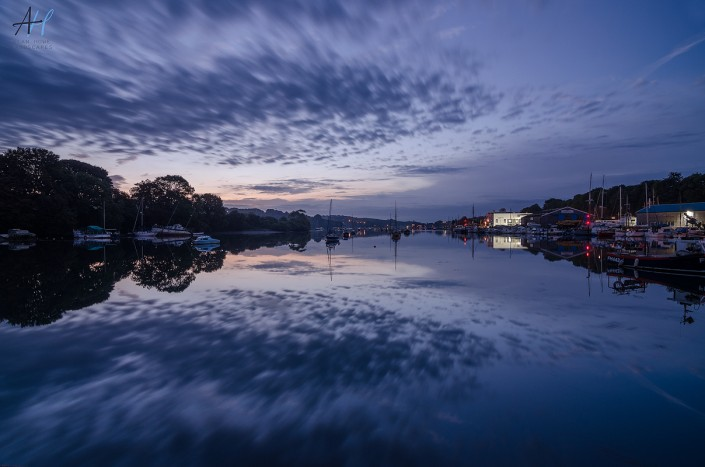 Cornwall; Penryn; calm; boats; reflections; still; peaceful; morning
