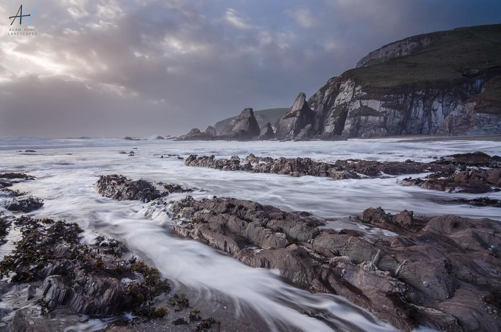 Westcombe beach; Devon coast; South west Coast Path