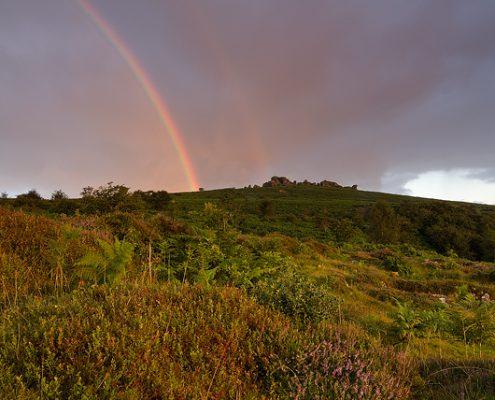 Dartmoor National Park; Devon; photography; rainbow