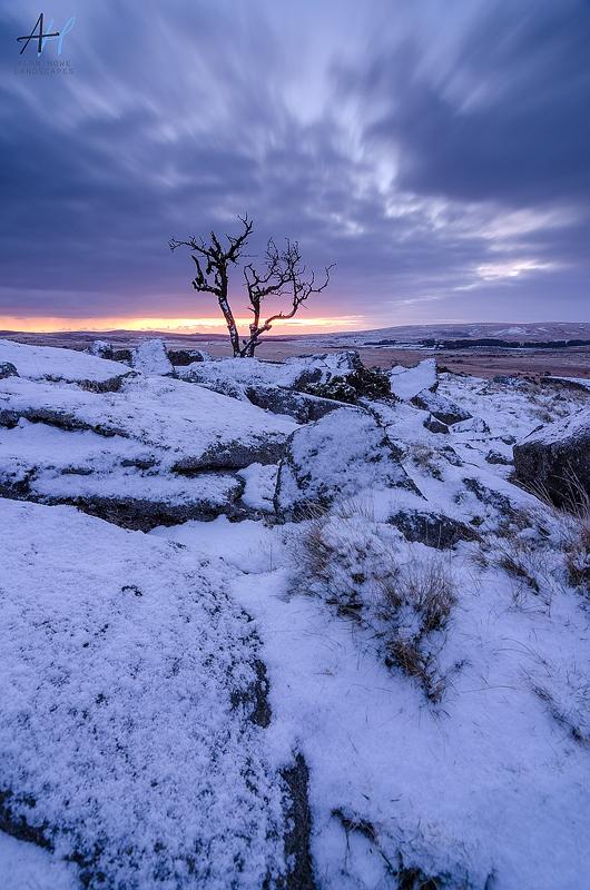 Dartmoor National Park; Devon; photography; snow